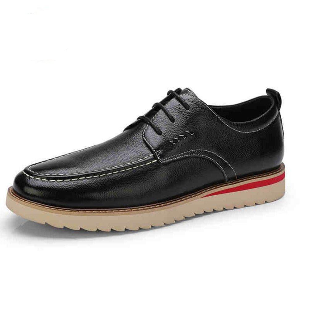 Unbekannt YIXINY Schuhe Turnschuhe Casual Herrenmode Bequeme Schuhe Künstliche Kunstleder Britischen Stil Frühling Herbst Schwarz Braun (Farbe : SCHWARZ, größe : EU42/UK8.5/CN43)
