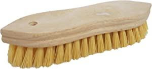 """Pointed End Scrub Brush, Wood Block, 1"""" Long Bristles, 9"""" Long, Block Base Is Made of Wood with a Natural Finish"""