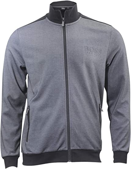 Hugo Boss Mens Bicolored Pique Tracksuit Jacket