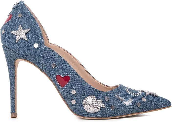 navigare non autorizzato Proprio  Guess Scarpe Decollete Donna Denim con Strass Blu: Amazon.it: Scarpe e borse