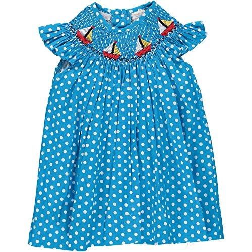 (Carriage Boutique Colorful Sailboat Bishop Dress, 3M Blue)