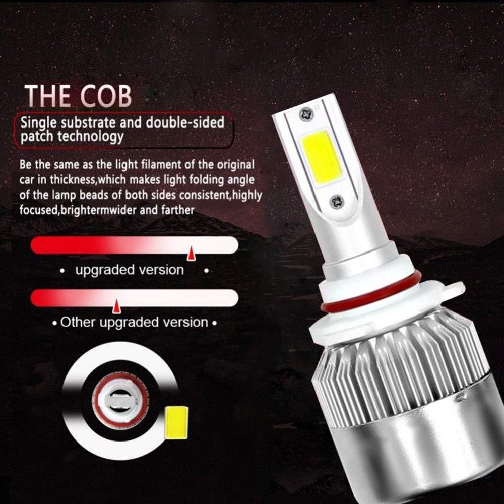 CHUANCHET LED Lampadine del Faro Kit Lampada Sostituzione per Alogena Lampade e Xenon Luci H3 110W 26000LM 6000K Bianche
