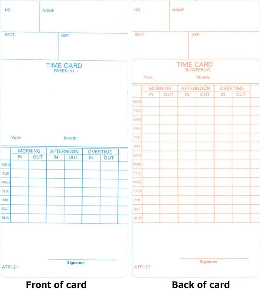 1000 ATR121 Time Cards for Acroprint ATR120 and ATR120r by COMPUMATIC