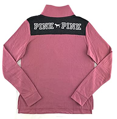 e8060a57cf44a3 Victoria s Secret Pink Perfect Quarter Zip Sweatshirt at Amazon Women s  Clothing store