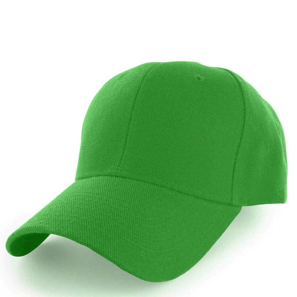 野球帽 メンズ レディース 調節可能 無地カーブバイザーハット グリーン   B07H1W37F9