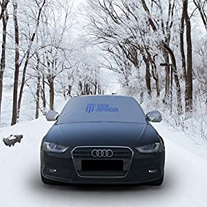 Magnetic Edges Windshield Snow Cover-Fits most Car SUV Truck Van Automobile-Top Quality Shade for Snow Ice Frost and Sun Protection-Waterproof Windproof Dustproof with Rearview Mirror Covers-84x50 in