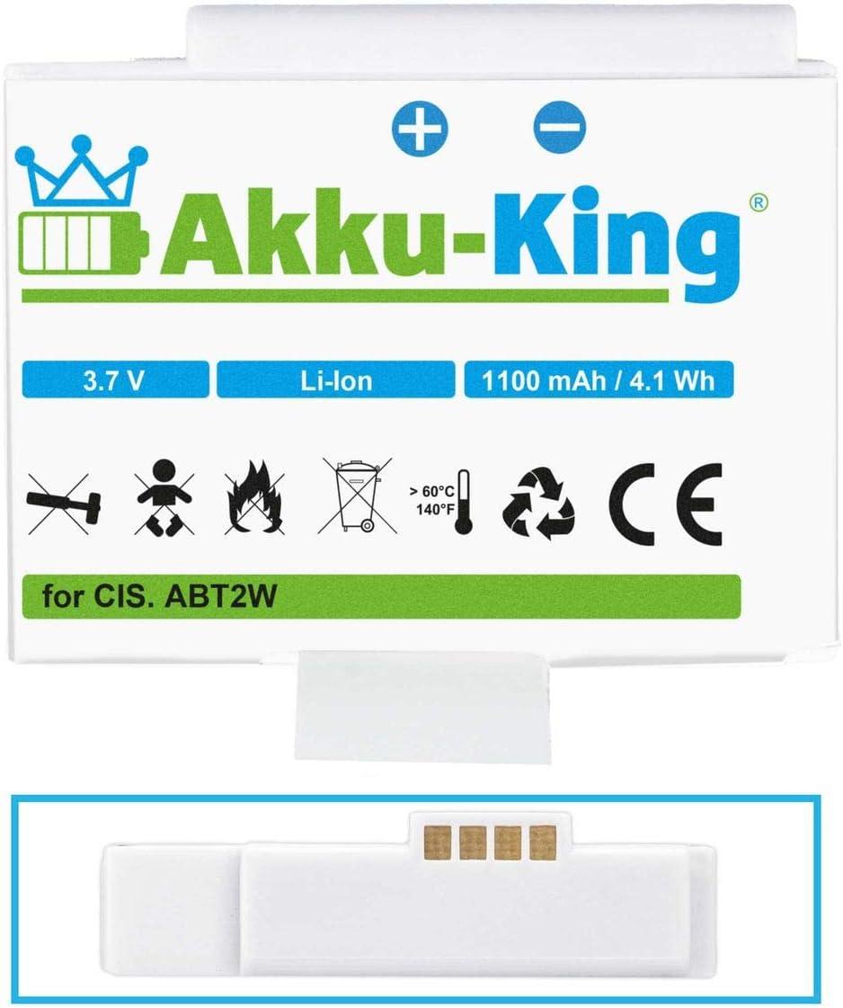 f/ür Flip Ultra HD Pure Flip Video UltraHD 8GB Akku-King Akku kompatibel mit Cisco ABT2W U3120 FVU2120B Li-Ion 1100mAh