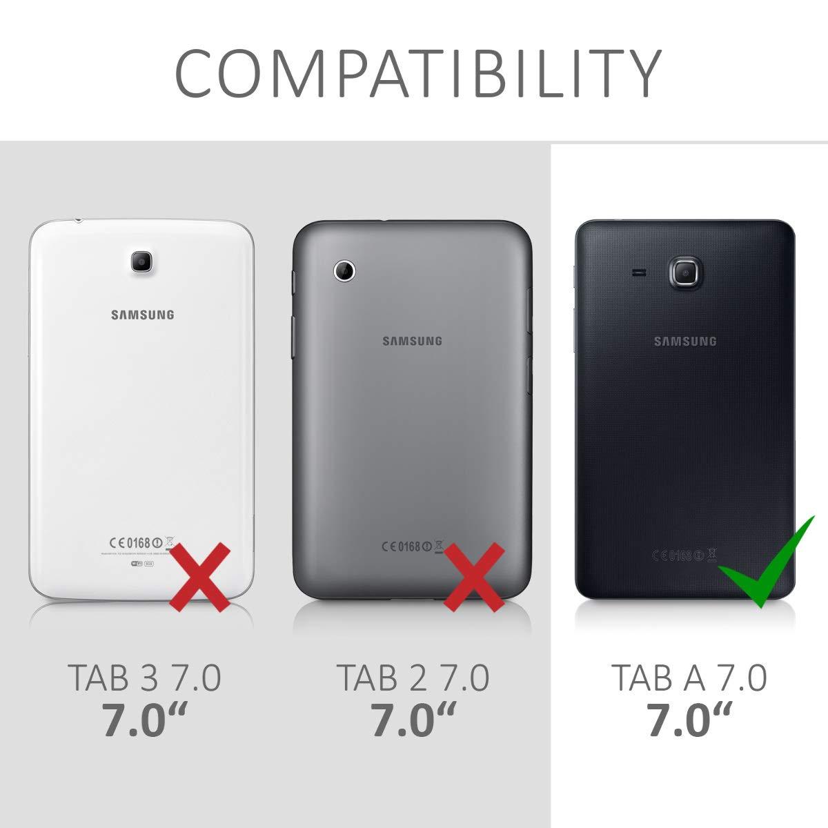 - Cover en Trasera kwmobile Funda para Samsung Galaxy Tab A 7.0 Negro Mate para Tablet de Silicona TPU Carcasa