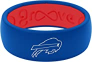 NFL Buffalo Bills - Groove Life Silicone Wedding Ring for Men Breathable Rubber Rings for Men, Lifetime Coverage, Unique Des