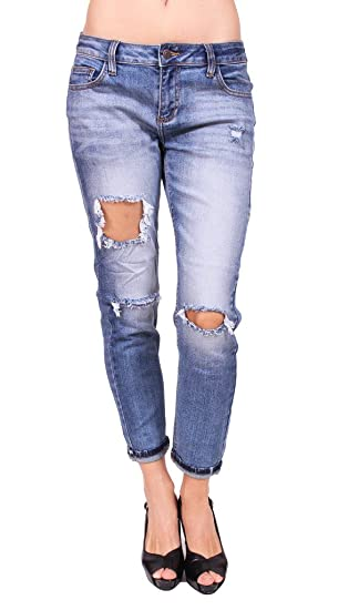 reliable quality reputation first buy real Cello Jeans Woman Vintage Distressed Boyfriend Jeans at ...