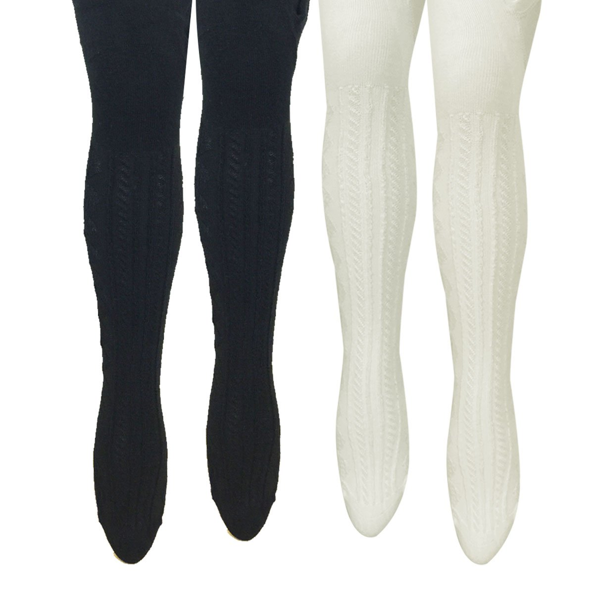 Bowbear Toddler Girl 2-Pair Cable-Knit Tights