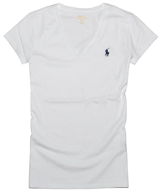 b118df0d893 Polo Ralph Lauren Mujer Pony Logo Camiseta de Cuello  Amazon.es  Ropa y  accesorios