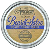 Facial Hair Competition - All American Gentlemen Salve, Beard Balm and Mustache Wax Supports Growth, Softens Hair, Reduces Itch, Bold, Fresh Scent Non Greasy Leave-in Formula, Natural and Organic, 2 oz.