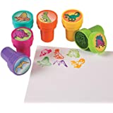 Rhode Island Novelty (STSTADI) Set of 24 Assorted Colorful Dinosaur Stampers - Arts and Crafts Birthday Party Activity