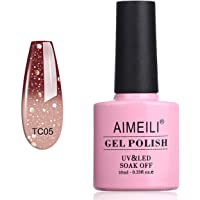 AIMEILI Gel Nagellak UV LED Gellack Soak Off Gel Polish Temperatuur Kleurverandering - Chocolate Spark (TC05) 10ml