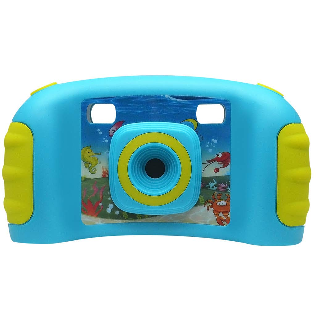 HowLoo Creative Camera for Children's 1.77-inch Game Digital Camera HD Motion Camera (Blue) by HowLoo (Image #1)