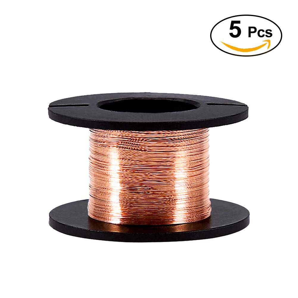 5PCS 0.1mm Enameled Copper Wire, Made of High Electrical Conductivity Copper, Used in Professional Maintenance of Mobile Phones, Laptops and Other Precision Motherboard by Mugast (Image #1)