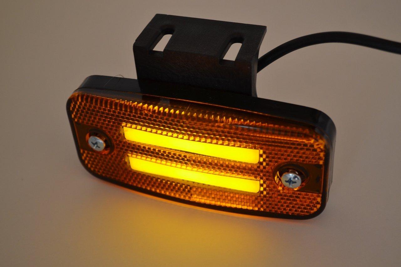 cami/ón remolque caravana 8 x 8 LED Neon contorno lateral perimetral naranja /ámbar rotulador 24 V luces l/ámparas con soportes extra/íbles para cami/ón