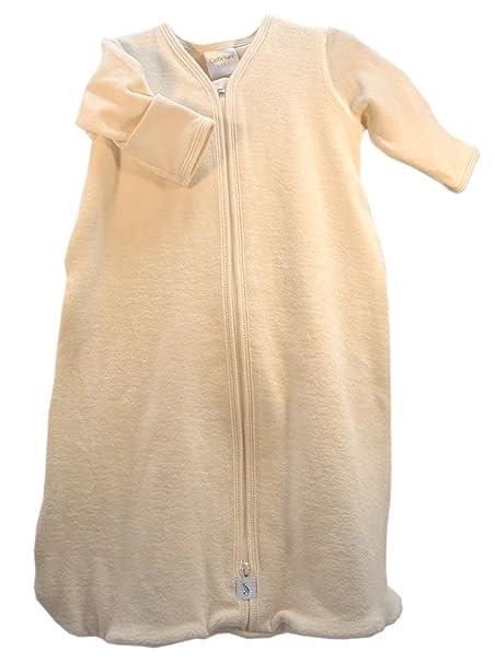 97a63790d Amazon.com  Organic Long Sleeve Velour Newborn Cozie Sack - Made in ...