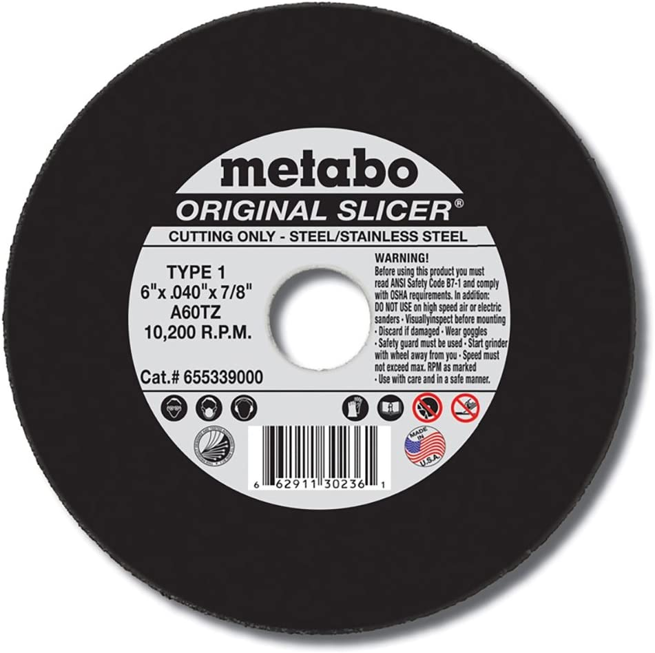 10pk Metabo 655347000-10PK 6 x .045 x 7//8 A60TZ Slicer Cutting Wheel T27