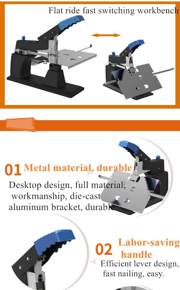 Cgoldenwall manuale saddle Stitcher A3/Seam equitazione Fissatrice Heavy Duty labor-saving Flat Staple A4/rilegatrice sh-03