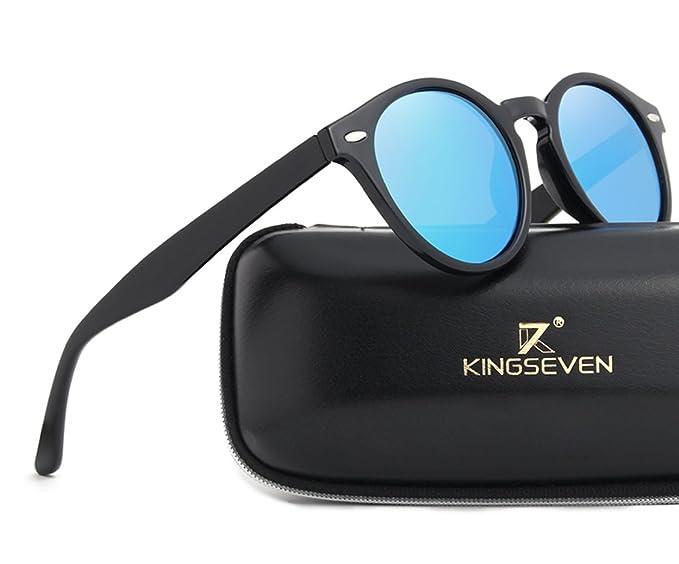 DLuxoMode Gafas de sol polarizadas cristal azul, Gafas de sol estilo clásico, gafas de