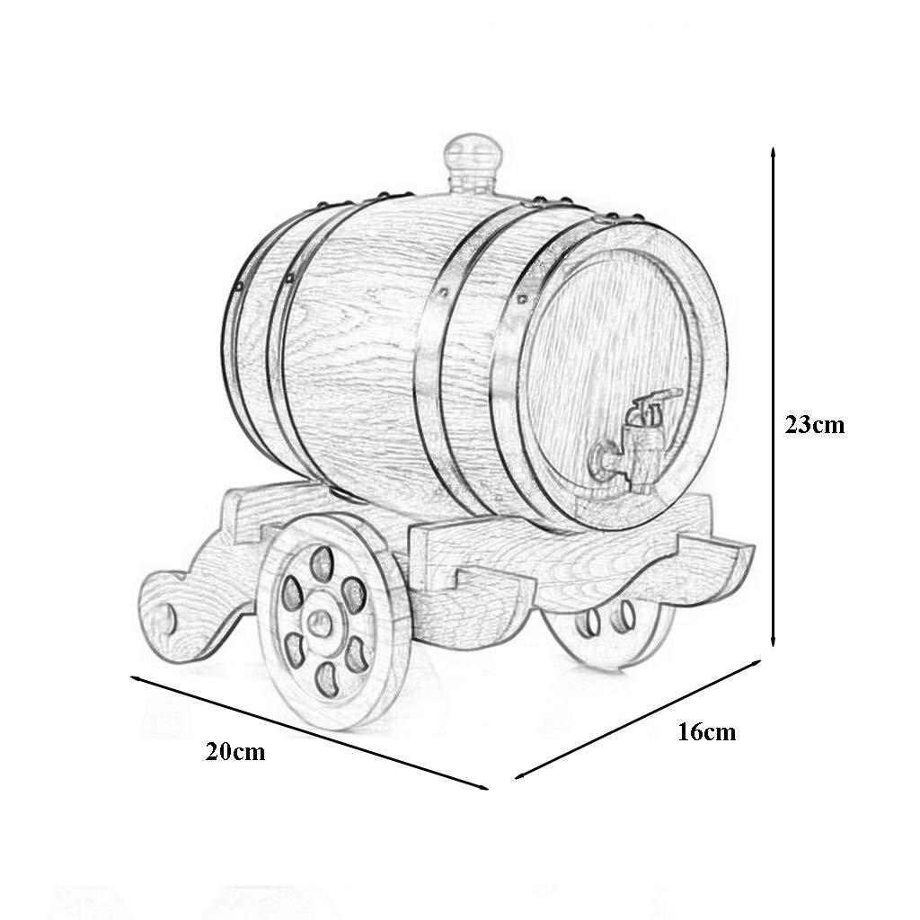 HUNYUAN-LF Barriles de Roble de 1.5 l, barriles de Vino de ...