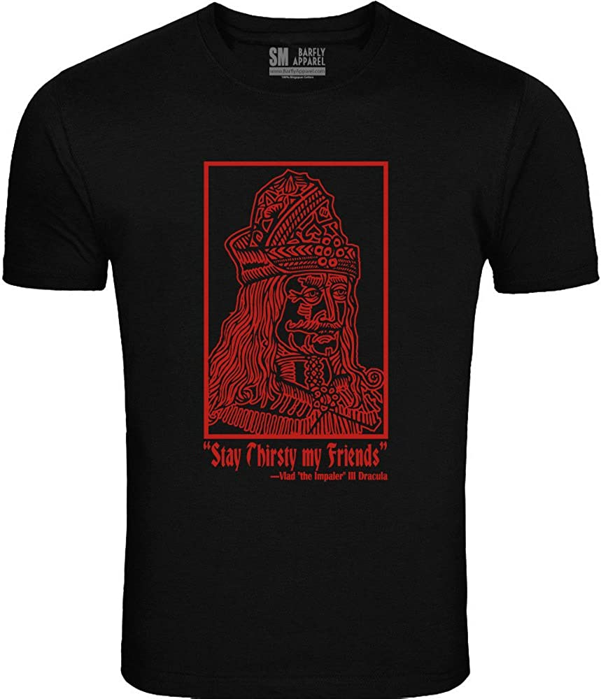 Barfly Apparel Mens Stay Thirsty Tee Black