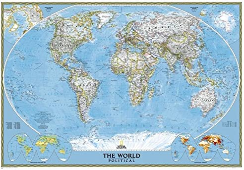 Amazon Com National Geographic World Classic Map Enlarged