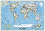 National Geographic: World Classic Enlarged Wall Map - Laminated (69.25 x 48 inches) (National Geographic Reference Map)