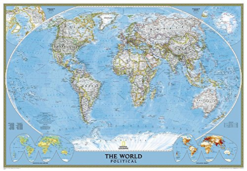 National Geographic - World Classic Map, Enlarged & Laminated Poster by National Geographic 69 x 48in