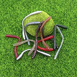 10PCS/SET 10CM Soft Floating Trout Worm Soft Baits Artificial Fishing Lures Sea Worms Earthworm Fishing Soft Lures Wobblers
