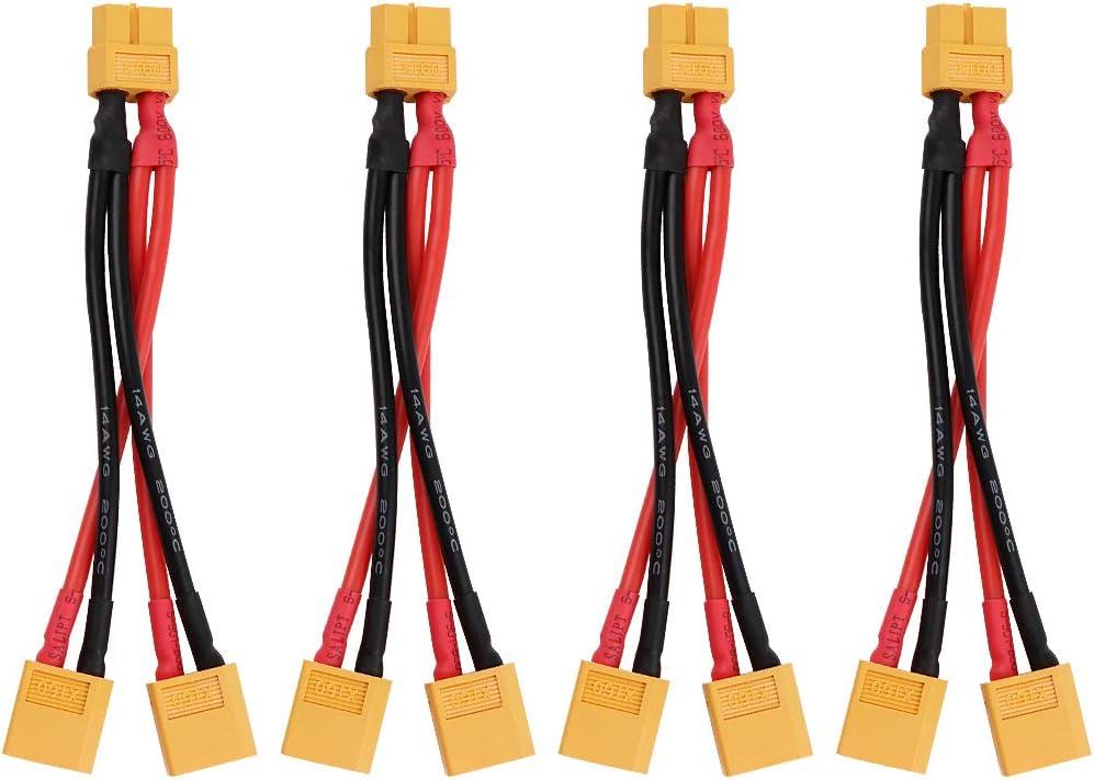Makerfire 4 Unids XT60 Cable Paralelo Conector de Batería Extensión Y Splitter para dji Phantom RC Mode Helicopter Quadcopter
