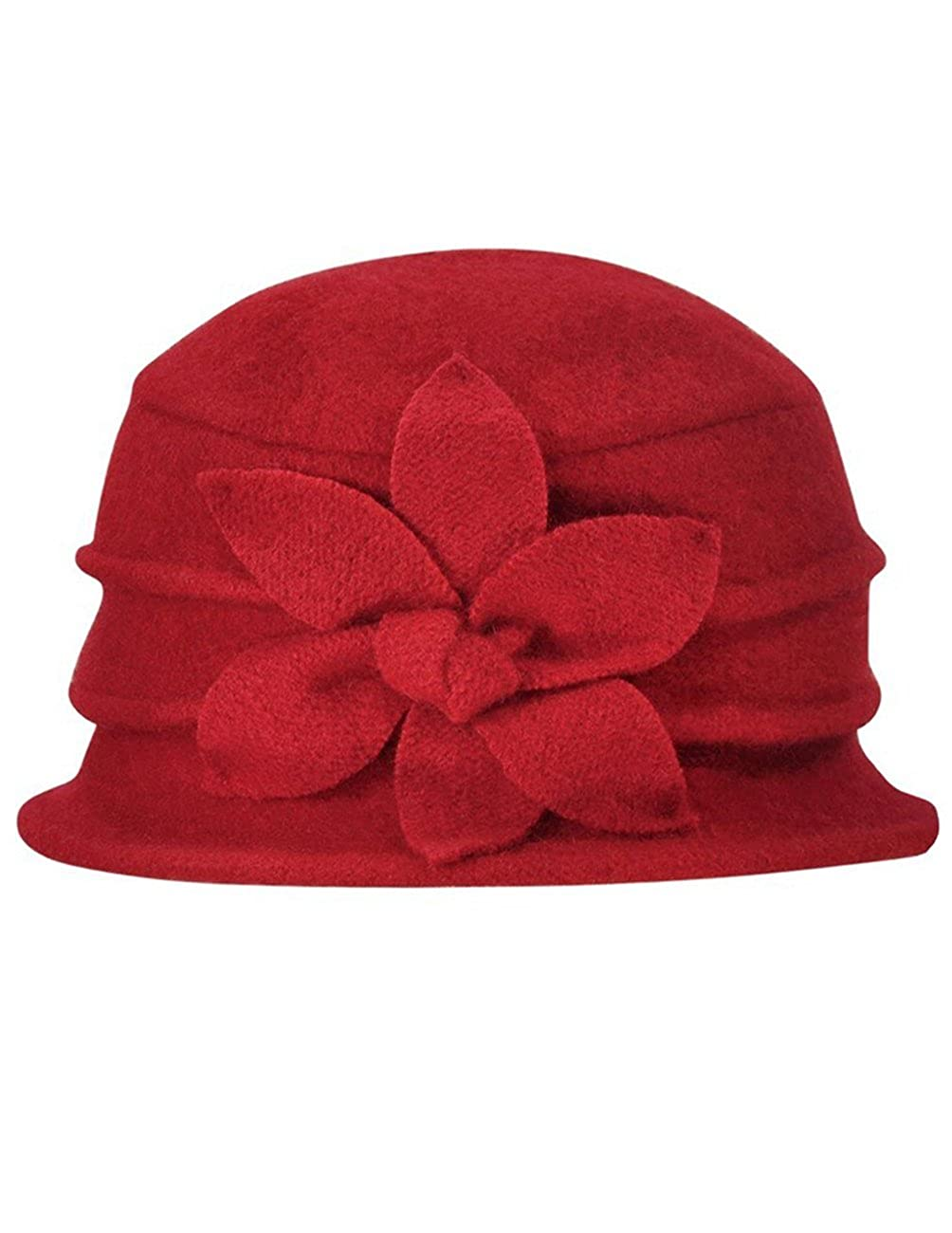 ab5c138e36d Dahlia Women s Daisy Flower Wool Cloche Bucket Hat HT0014WLW-BK larger image