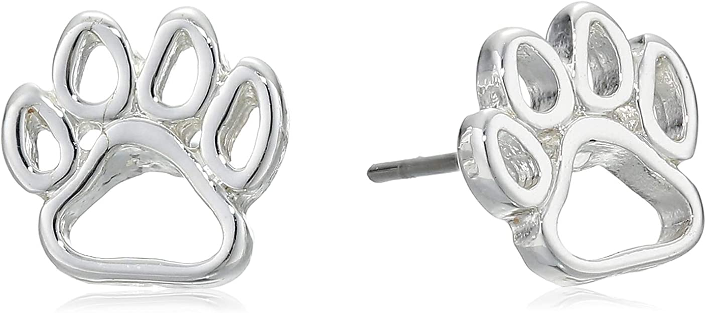 Pet Friends Womens Boxed Silver//Multi Pave Paw Pin
