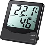 AMIR Digital Thermometer hygrometer Home Comfort Monitor Temperature and Humidity Meter with Large LCD Screen, MIN/MAX Records, Accurate Readings, °C/°F Switch, for Cars, Home, Office, etc. [Energy Class A+]