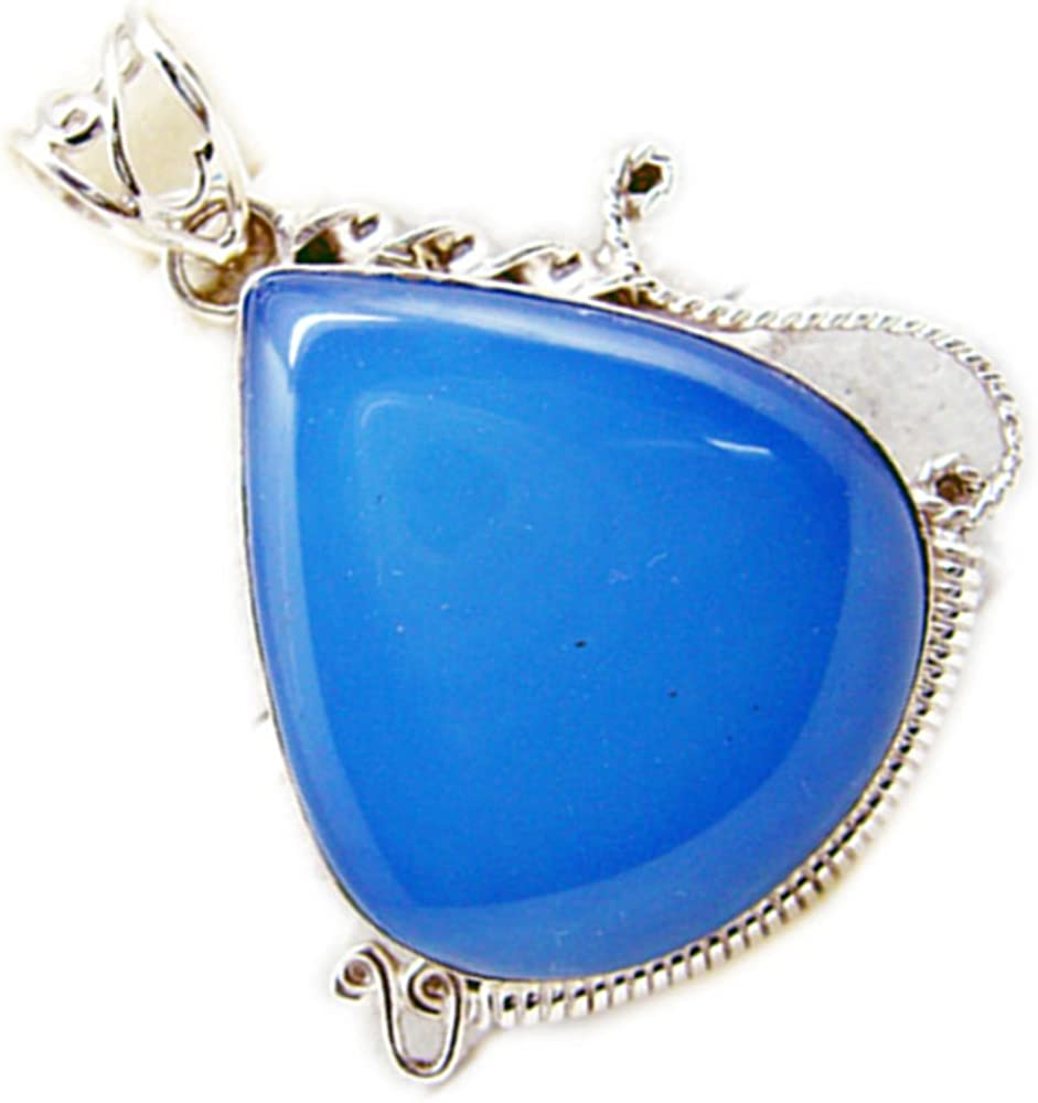Gemsonclick Narural Turquoise Silver Jewelry For Women Oval Vintage Style Handmade Astrological Necklaces