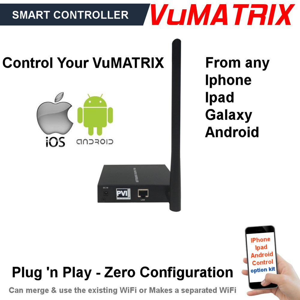 VUMATRIX SMART-CONTROLLER enables auto-discovery, naming and control