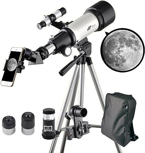 Telescopio Landove, 60 mm AZRefractor con 10 mm Smartphone ...