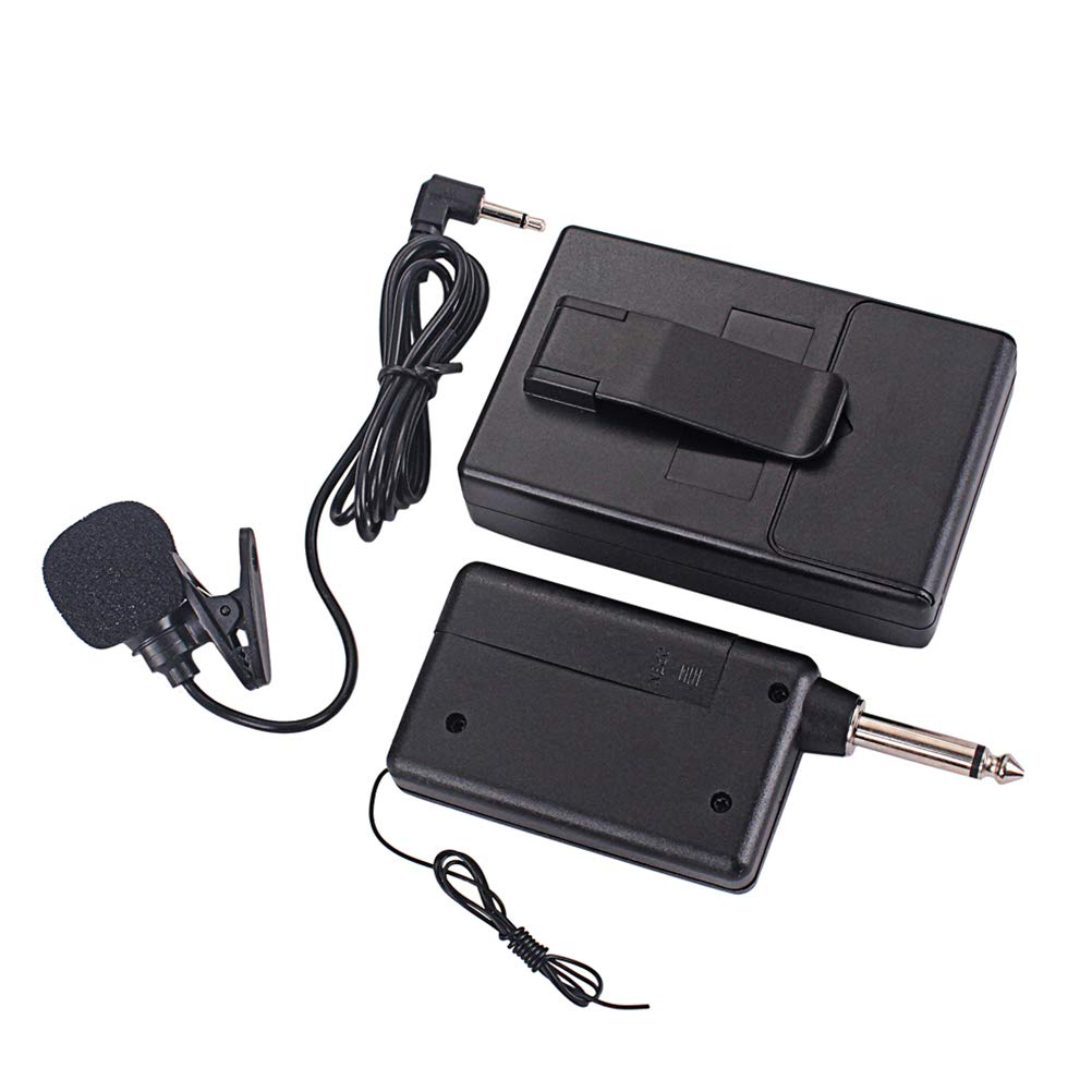 Healifty Wireless Microphone System lavalier Lapel mics beltpack Transmitter for Teaching Public Speaking