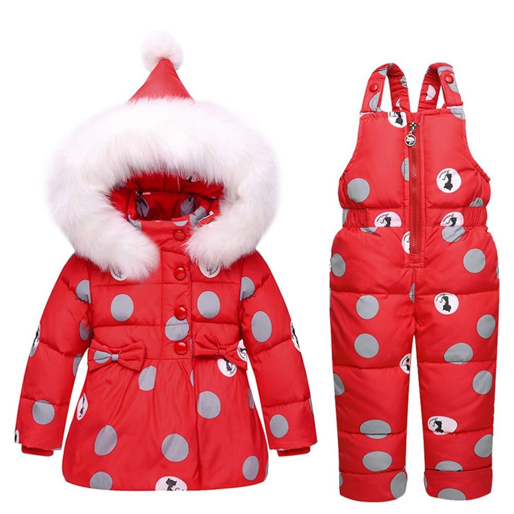 Ruibide Infant Baby Two-Piece Snowsuit Jacket Set Jumpsuit