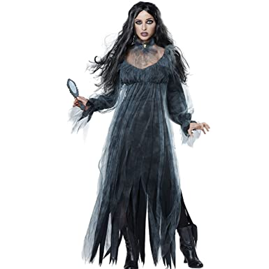 Amazon.com: Women\'s Bloody Mary Ghost Costume, Dress and Necklace ...