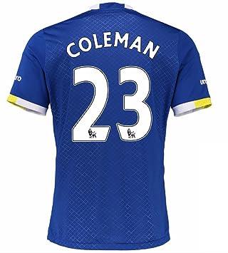 2016 2017 Everton FC Camiseta de 23 Seamus Coleman casa fútbol Jersey de flores en azul