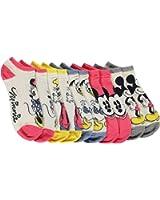 Disney Mickey & Friends Retro Ladies and Juniors 5-Pack No Show Socks