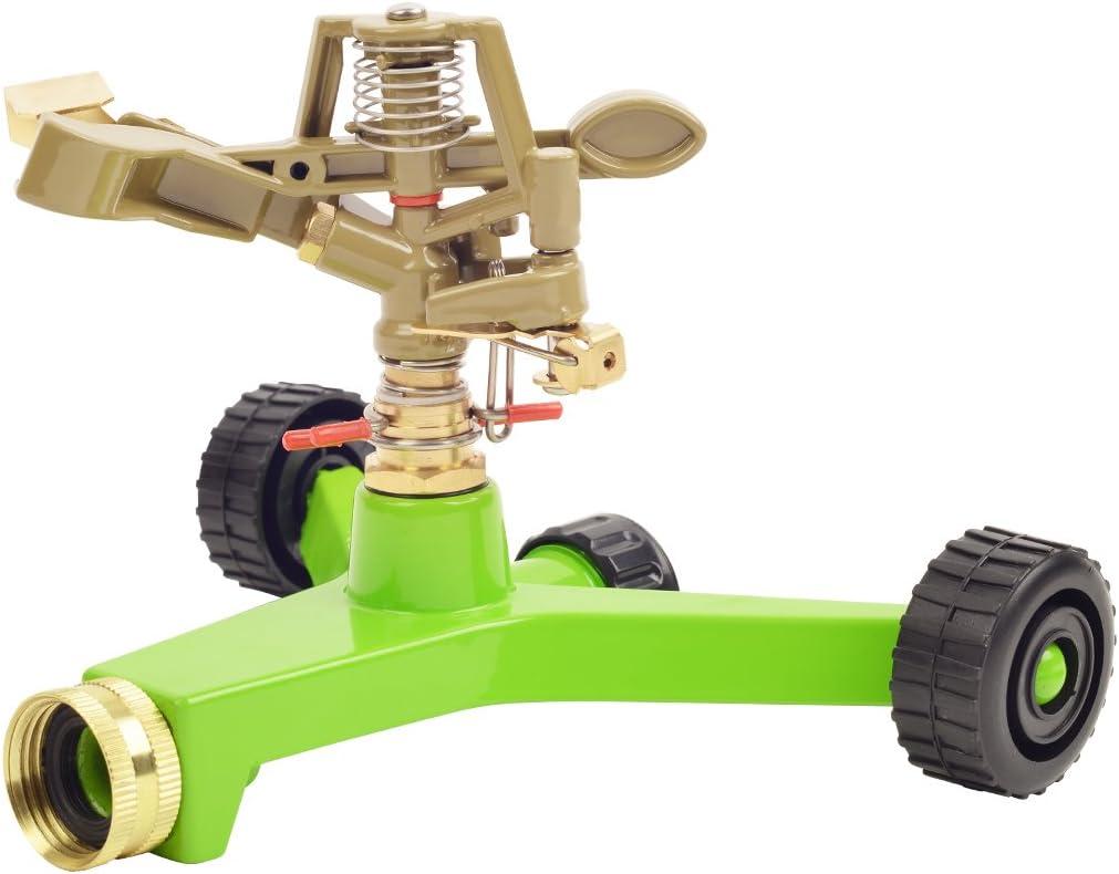 Greenworks GS2304 All Wheeled Base Adjustable Metal Sprinkler