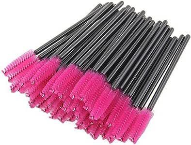 Bullidea 50X Disposable Mascara Wands Eyelash Brushes Lash Extension Applicator Spoolers 3 Color Red
