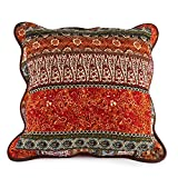 Best Striped Classical Cotton Quilted Pillow Cushion Cover Accent Case 2 Pieces