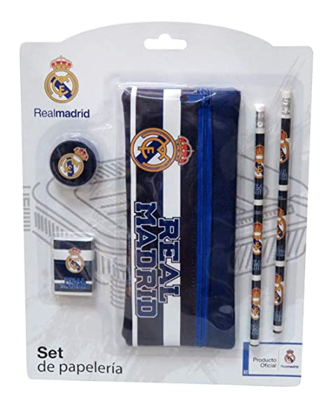 Amazon.com: Real Madrid Set de papelería con estuche: Home ...