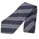 Gucci Patterned Navy Blue and Ivory White Men's Silk Tie 376005