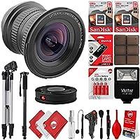 Opteka 15mm f/4 HD Ultra Wide Angle Macro Lens w/ 32GB - 20PC Camera Bundle for Canon EOS 80D, 77D, 70D, 60D, 7D, 6D, 5D, 7D Mark II, T7i, T6s, T6i, T6, T5i, T5, SL1 & SL2 Digital SLR Cameras